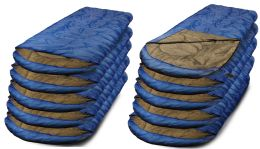 30 Units of Yacht & Smith Temperature Rated 72x30 Sleeping Bag Solid Blue - Camping Sleeping Bags