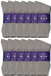 300 Units of Yacht & Smith Womens Cotton Gray Crew Socks, Sock Size 9-11 - Women's Socks for Homeless and Charity