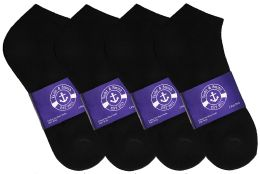 300 Units of Yacht & Smith Womens Cotton Black No Show Ankle Socks, Sock Size 9-11 - Women's Socks for Homeless and Charity