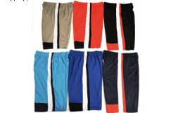 144 Units of Mens 21 Inch Mesh Athletic Basketball Jogging Shorts Assorted Sizes - Mens Clothes for The Homeless and Charity