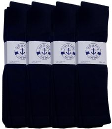 240 Units of Yacht & Smith Men's Navy Cotton Terry Tube Socks,30 Inch Long Athletic Tube Socks, Size 10-13 - Mens Clothes for The Homeless and Charity