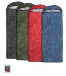 30 Units of Yacht & Smith Temperature Rated 72x30 Sleeping Bag Assorted Colors - Camping Sleeping Bags