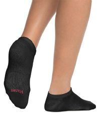 144 Units of Hanes Woman Black Footie, No Show Ankle Socks - Womens Ankle Sock