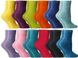 72 Units of Yacht & Smith Butter Soft Womens Cozy Fuzzy Socks, Sock Size 9-11 - Womens Fuzzy Socks