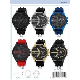 12 Units of 50mm Milano Expressions Silicon Band Watch - 47401-Asst - Men's Watches