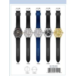 12 Units of 41mm Milano Expressions Silicon Band Watch - 47902-Asst - Men's Watches