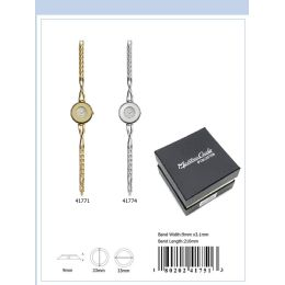 12 Units of 33mm Montres Carlo Ip Plated Japan Movt. Watch - 41771-Asst - Women's Watches