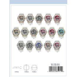 12 Units of 45mm Montres Carlo 5atm Circular Transparent Digital Watch - 85941-Asst - Digital Watches