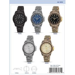 12 Units of 42mm Milano Expressions Metal Band Watch - 48584-Asst - Men's Watches
