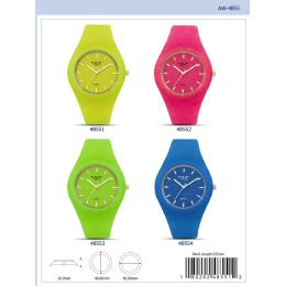 12 Units of 40mm Milano Expressions Silicon Watch - 47001-Asst - Women's Watches