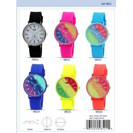 12 Units of 41mm Milano Expressions Silicon Band Watch - 48521-Asst - Women's Watches