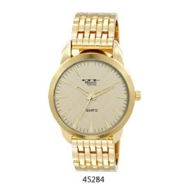 12 Units of M Milano Expressions Gold Metal Band Watch - 45284-Asst - Men's Watches