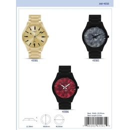 12 Units of 48MM Milano Expressions Metal Band Watch - 45586-ASST - Men's Watches