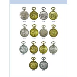 12 Units of 46MM Milano Expressions Engraved Pocket Watch - 37747-ASST - Men's Watches