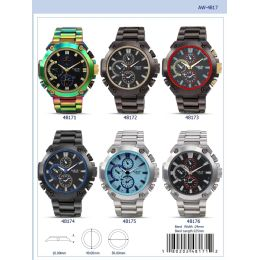 12 Units of 49MM Milano Expressions Metal Band Watch - 48172-ASST - Men's Watches