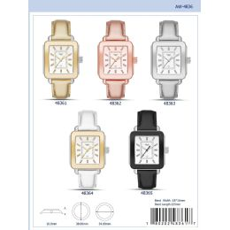 12 Units of 38mm Milano Expressions Vegan Leather Band Watch - 48363-Asst - Women's Watches