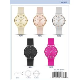 12 Units of 41MM Milano Expressions Silicon Band Watch - 48398-ASST - Women's Watches