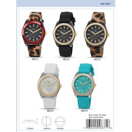 12 Units of 40MM Milano Expressions Silicon Band Watch - 48371-ASST - Women's Watches