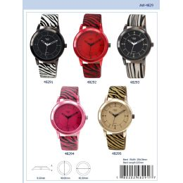 12 Units of 40MM Milano Expressions Animal Print Watch - 48295-ASST - Women's Watches