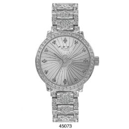 12 Units of M Milano Expressions Silver Metal Band Watch - 45073-ASST - Women's Watches