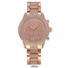 12 Units of M Milano Expressions Rose Gold Metal Band Watch - 45033-ASST - Women's Watches