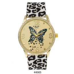 12 Units of M Milano Expressions Silicon Leaopard Strap Watch - 44563-ASST - Women's Watches