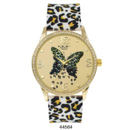 12 Units of M Milano Expressions Silicon Leaopard Strap Watch - 44564-ASST - Women's Watches