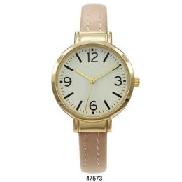 12 Units of Nude Vegan Leather Cuff Watch - 47573-Asst - Women's Watches
