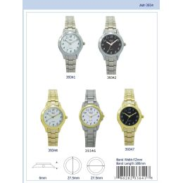 12 Units of 27mm Milano Expressions Basic Metal Band Watch - 39346-Asst - Women's Watches