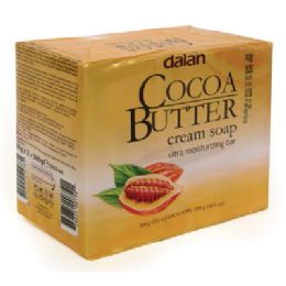24 Units of Dalan Bar Soap 3.17 Ounce 3 Pack Cocoa Butter - Soap & Body Wash