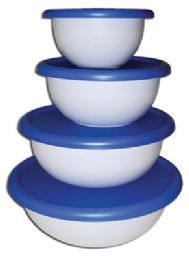 6 Units of STERILITE BOWL SET 8 PIECE WITH LIDS - Food Storage Containers