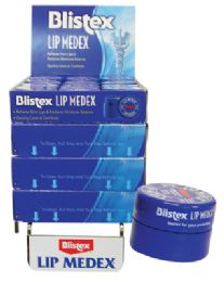 48 Units of Blistex Lip Medex .25 Oz Counter Display - Personal Care Items