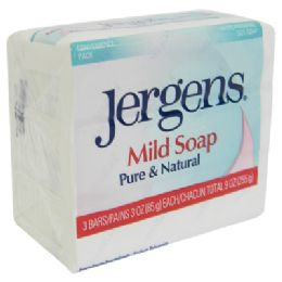 32 Units of JERGENS MILD BAR SOAP 3 PACK 3 OZ EACH PUREAND NATURAL - Soap & Body Wash