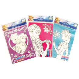 36 Units of DISNEY FROZEN COLORING GLITTER SHEET 11X 15 INCH + 5 MARKERS PREPRICED $1.00 - MARKERS/HIGHLIGHTERS