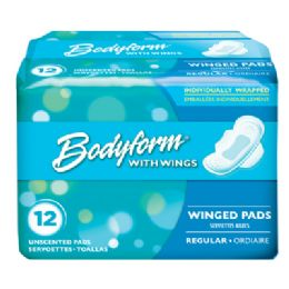 36 Units of Bodyform Wing Maxi Pad 12 Count Regular - Personal Care Items