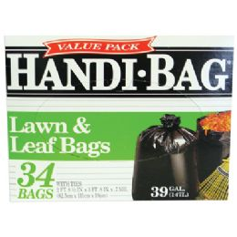 6 Units of Handi Bag Lawn And Leaf Bags 34 Count 39 Gallon Value Pack - Bags Of All Types