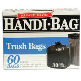 6 Units of Handi Bag Trash Bag 60 Count 30 Gallon - Bags Of All Types