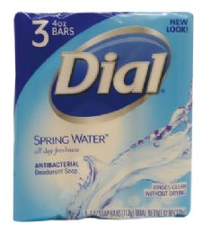 18 Units of DIAL ANTIBACTERIAL BAR SOAP 3 PACK 4 OZ SPRING SCENTMADE IN USA - Soap & Body Wash
