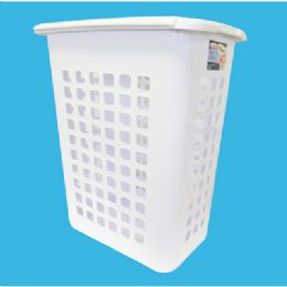 4 Units of Sterilite Laundry Hamper Lift Top White - Laundry Baskets & Hampers