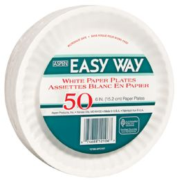 24 Units of EASY WAY 6 Inch 50 CT PAPER PLATE MICROWAVE SAFE - Disposable Plates & Bowls