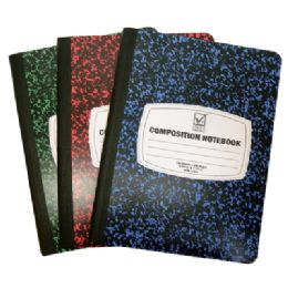 48 Units of COMPOSITION NOTEBOOK 100 SHEET 9.75 X 7.5 INCH WIDE RULE - Notebooks