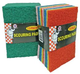 48 Units of Scouring Pads 10 Pack In Display - Scouring Pads & Sponges