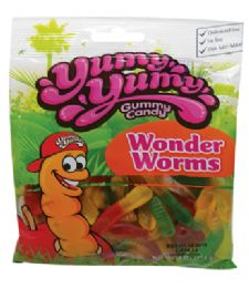 12 Units of YUMY YUMY GUMMY WORMS 4 OZ - Food & Beverage