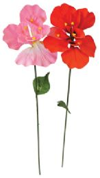 72 Units of Velvet Flowers 28 Inch Assorted Colors Prepriced $2.99 - Artificial Flowers