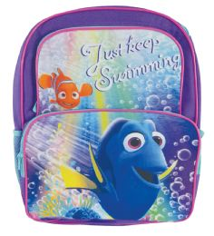 "12 Units of DISNEY BACKPACK 16"""" DORY CARGO STYLE- JUST KEEP SWIMMING - Backpacks"