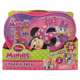 25 Units of Disney Minnie Puzzle 24 Piece 2 Pack Carry And go - Crosswords, Dictionaries, Puzzle books