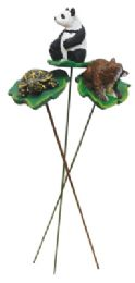 72 Units of LAND AND SEA DECORATIVE PLANT STAKES 9 INCH ASSORTED ANIMAL DESIGNS - Home Decor