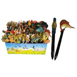 144 Units of LAND AND SEA LETTER OPENERS 6 INCH WITH DISPLAY ASSORTED ANIMAL DESIGNS - Pens