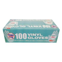 10 Units of Vinyl Glove 100 Count Small Powder Free - Kitchen Gloves
