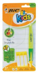 36 Units of BIC KIDS PEN INCLUDES 3 NAME LABELS BLACK INK - Pens